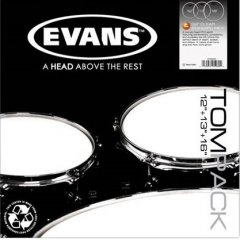 EVANS - TOM PACK G2 CLEAR ROCK