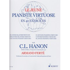 HANON LE JEUNE PIANISTE VIRTUOSE 40 EXERCICES