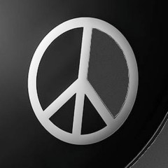 "6"" DYNAMO PEACE SIGN CHROME"