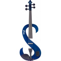 STAGG VIOLON ELECTRIQUE BLEU TRANSPARENT