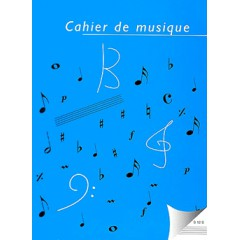 CAHIER 12 PORTEES SPIRALE 96 PAGES 23X31cm