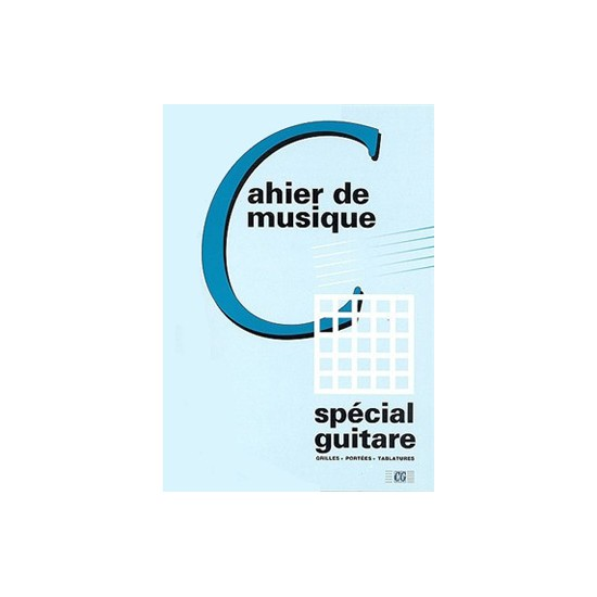 CAHIER GUITARE PORTEES / TAB / GRILLES 48 PAGES
