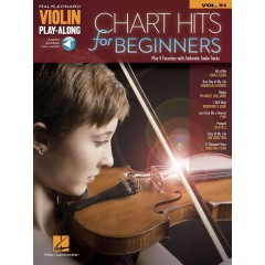 VIOLIN PLAY-ALONG VOL.051 CHART HITS FOR BEGINNERS + ACCOMPAGNEMENT AUDIO