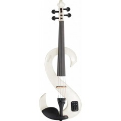 VIOLON ELECTRIQUE STAGG BLANC BRILLANT