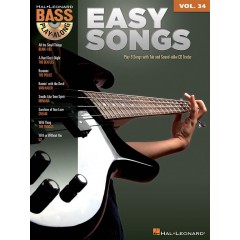BASS PLAY-ALONG V.34 EASY SONGS + TELECHARGEMENT AUDIO INCLUS
