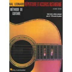 HAL LEONARD METHODE DE GUITARE REPERTOIRE D'ACCORDS INSTANTANE