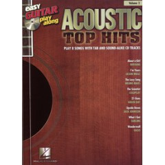 EASY GUITAR PLAY-ALONG V.2 ACOUSTIC TOP HITS TAB + CD