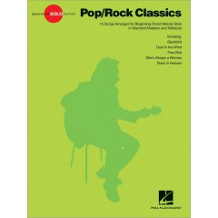 BEGINNING SOLO GUITAR - POP ROCK CLASSICS TAB
