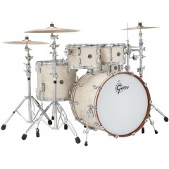 GRETSCH KIT 4 FUTS RENOWN MAPLE 22/10/12/16FT VINTAGE PEARL + SUPPORTS TOMS