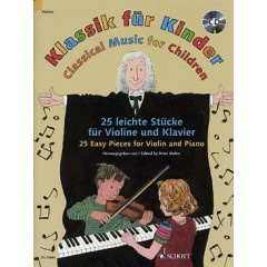 CLASSICAL MUSIC FOR CHILDREN - 25 EASY PIECES VIOLON / PIANO + CD