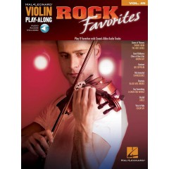 VIOLIN PLAY-ALONG VOL.049 ROCK FAVORITES + ACCOMPAGNEMENT AUDIO