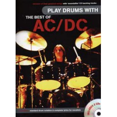 PLAY DRUMS WITH AC/DC LIVRET  + 2 CDs