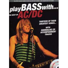 PLAY BASS WITH BEST OF AC/DC LIVRET  + 2 CDs