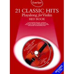 GUEST SPOT 21 CLASSIC HITS RED BOOK VIOLON LIVRET + 2 CDs