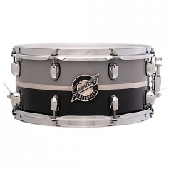 "GRETSCH CAISSE CL RETRO-LUXE 14X6.5"" PEWTER/BLACK"