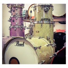 PEARL - KIT MASTERWORKS 6 FUTS CHAMPAGNE SPARKLE + ETUIS/HOUSSE