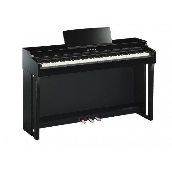 steel music yamaha clavinova clp 625 noir laque piano. Black Bedroom Furniture Sets. Home Design Ideas