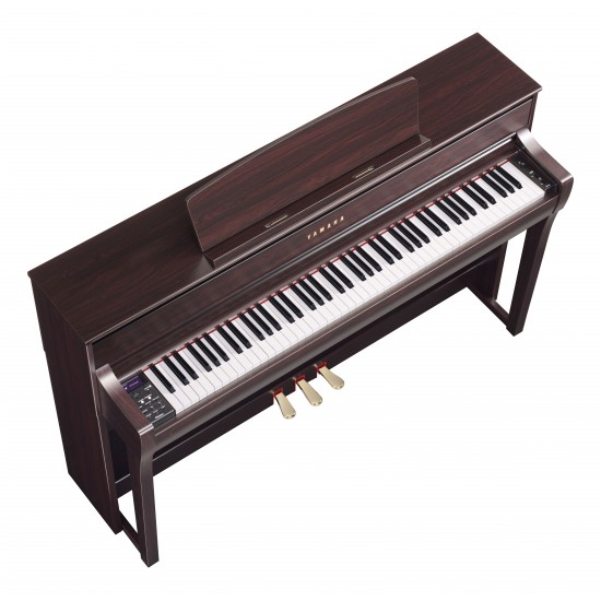 steel music yamaha clavinova clp 675 palissandre piano. Black Bedroom Furniture Sets. Home Design Ideas