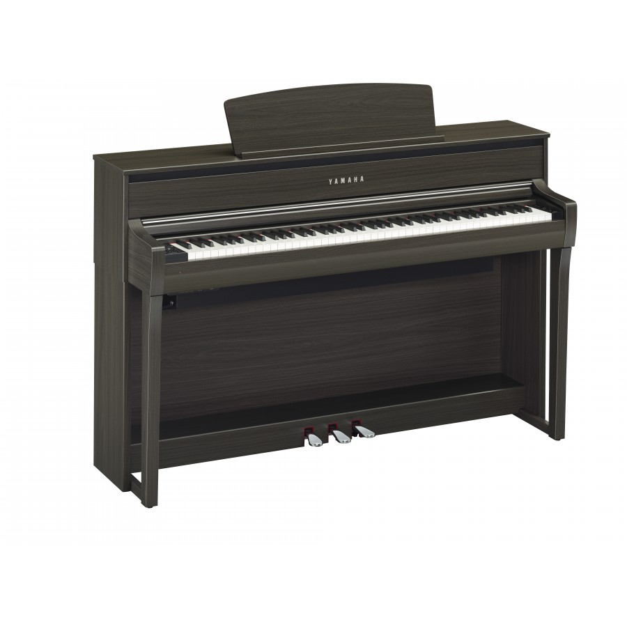 steel music yamaha clavinova clp 675 noyer fonce piano. Black Bedroom Furniture Sets. Home Design Ideas