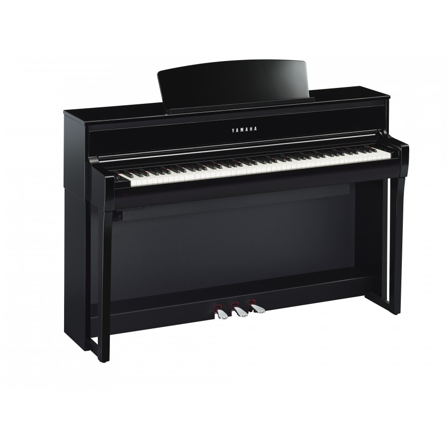 steel music yamaha clavinova clp 675 noir laque piano numerique. Black Bedroom Furniture Sets. Home Design Ideas