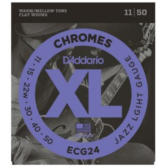 D'ADDARIO - CHROMES JAZZ LIGHT 11-15-22-30-40-50