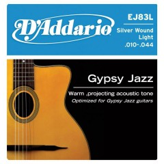 D'ADDARIO - JEU GIPSY JAZZ LIGHT 10-14-23-26-34
