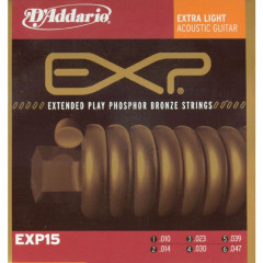D'ADDARIO - P/BRONZE EXP X-LIGHT 10-47    9-47