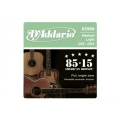 D'ADDARIO - JEU ACOUSTIC 85/15 MEDIUM LIGHT