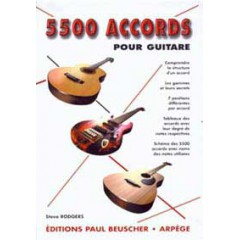 5500 ACCORDS POUR GUITARE