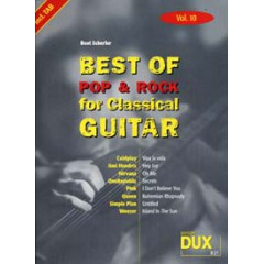 BEST OF POP & ROCK FOR CLASSICAL GUITAR V.10