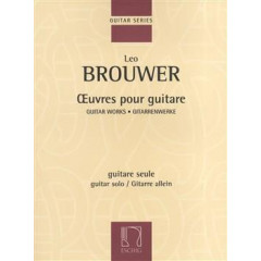 BROUWER OEUVRES POUR GUITARE