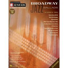JAZZ PLAY-ALONG VOL.076 BROADWAY JAZZ BALLADS + CD