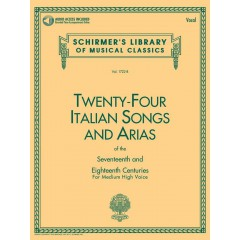 24 ITALIAN SONGS AND ARIAS MEDIUM HIGH VOICE + CD
