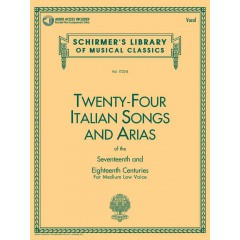 24 ITALIAN SONGS AND ARIAS MEDIUM LOW VOICE + CD