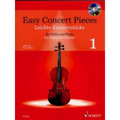 EASY CONCERT PIECES V.1 VIOLON + CD