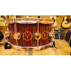 SNARE 14X6.5 EX-NEIL PEART RUSH INLAT COPPER HDWR