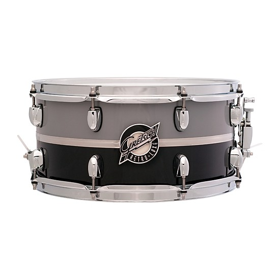 """GRETSCH CAISSE CL RETRO-LUXE 14X6.5"""" PEWTER/BLACK"""