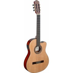 ANGEL LOPEZ SERIE MENCIA MEN TCE S GUITARE ELECTRO-ACOUSTIQUE 1/2 CAISSE
