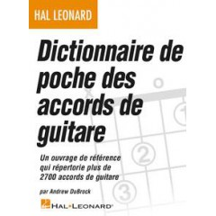 DICTIONNAIRE DE POCHE DES ACCORDS DE GUITARE