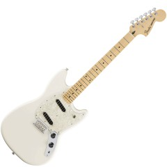 FENDER - MUSTANG, MAPLE FINGERBOARD, OLYMPIC WHITE