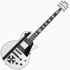 LTD - JAMES HETFIELD MODELE SIGNATURE IRON CROSS BLANC BRILLANT