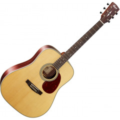 CORT - GUITARE ACOUSTIQUE CORT E80NS EARTH 80 NATUREL SATINE