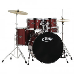 PDP - BATTERIES PDP KIT COMPLET CENTER STAGE 22/10/12/16FT 14X5 CC  CYMBALES BLACK ONYX SPARKLE