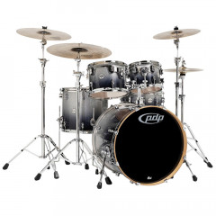 PDP - BATTERIES PDP KIT COMPLET CENTER STAGE 5 FUTS 22/10/12/16FT 14X5 CC  CYMBALES DIAMOND WHITE